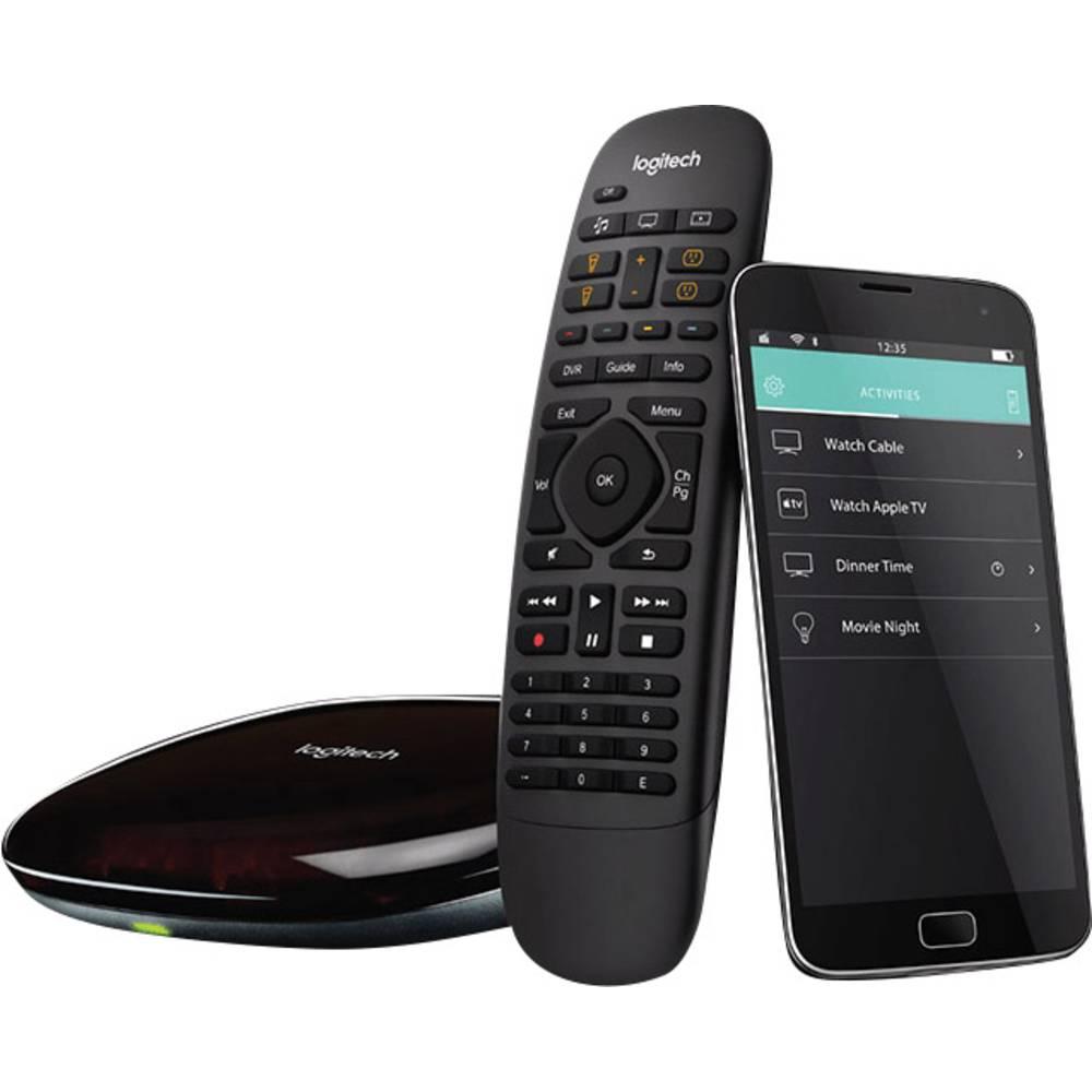 Logitech Harmony Companion infrardeči, Bluetooth®, WLAN daljinski upravljalnik, črne barve