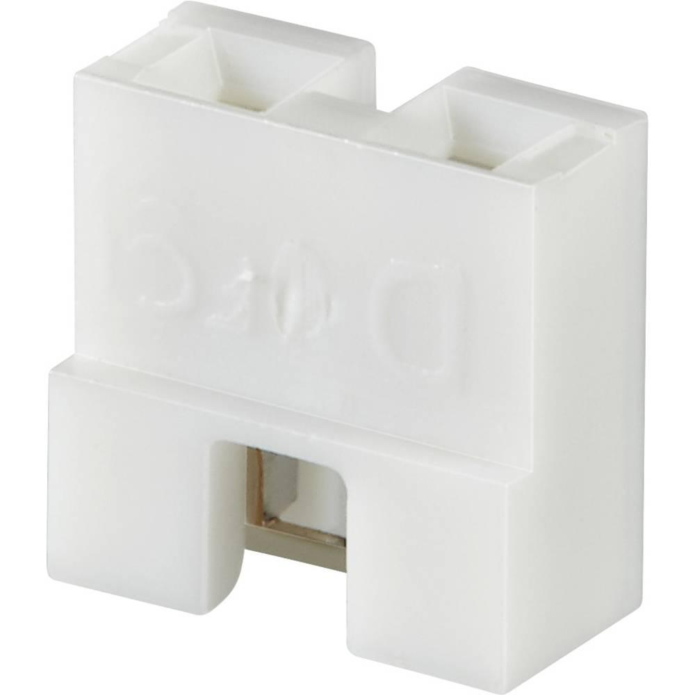 Kortslutningsbro Rastermål: 2.54 mm Poltal hver række:2 FCI Dubox / PV / Bergstik Indhold: 1 stk