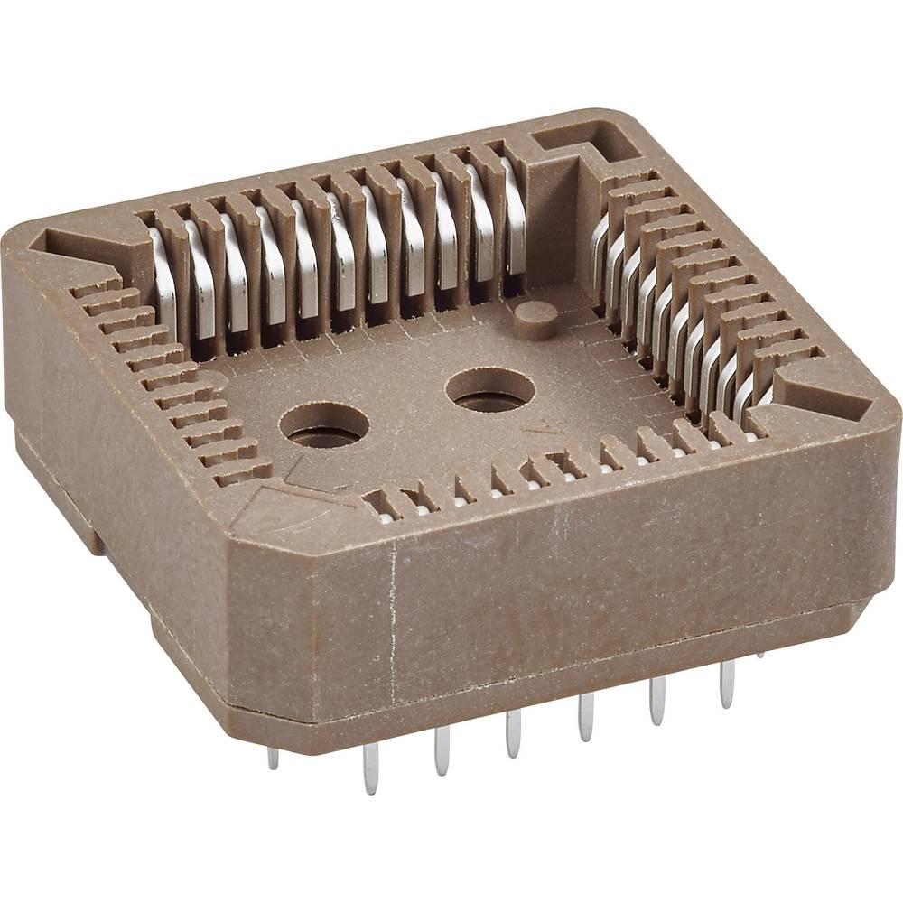 SMD PLCC-fatning Rastermål: 1.27 mm Poltal: 44 FCI 1 stk