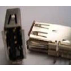 1 port FCI USB USB 2.0 hunstik A Hvid 1 stk
