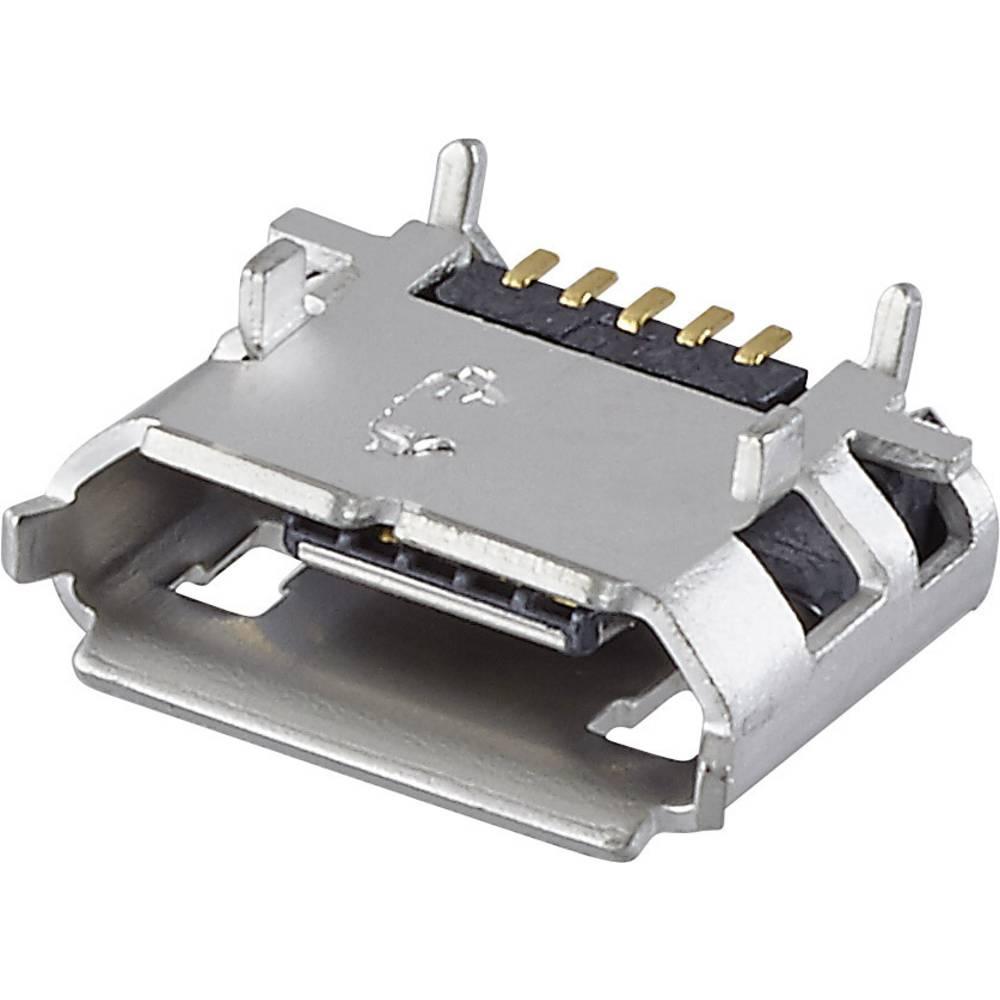 Vgradna vtičnica micro USB tip B 2.0 vtičnica, vodoravna namestitev, USB 1 vhod FCI vsebina: 1 kos