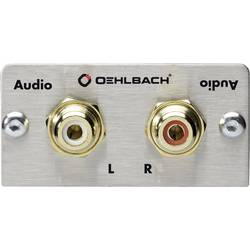 Stereo Cinch (R/L) (value.1258310) Oehlbach PRO IN 0 m Sølv