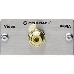 cinch-digitalni adapter [1x cinch-vtičnica - 1x spoj] iz aluminija, zlate barve s pozlačenimi vtičnimi kontakti Oehlbach