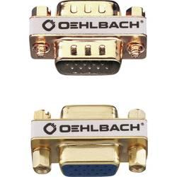 VGA adapter [1x VGA-vtičnica - 1x VGA-vtičnica] zlate barve s pozlačenimi vtičnimi kontakti Oehlbach VGA AD-2
