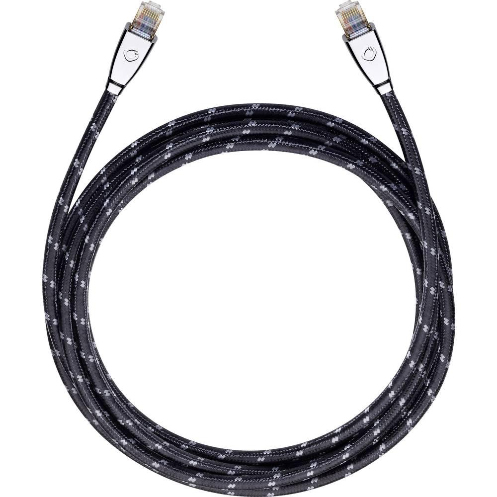 RJ45 omrežni priključni kabel CAT 6 S/FTP 20 m črne barve Oehlbach XXL® HYPER STREAM