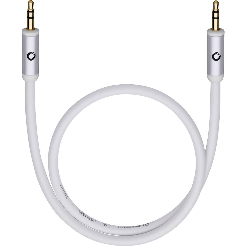 Cinch avdio priključni kabel [1x Cinch vtič 3.5 mm - 1x Cinch vtič 3.5 mm] 3 m črna pozlačeni kontakti, OFC-vodnik Oehlbach i-Co