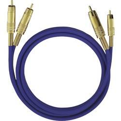 Cinch avdio priključni kabel [2x cinch vtič - 2x cinch vtič] 1 m črna pozlačeni kontakti Oehlbach NF 1 Master