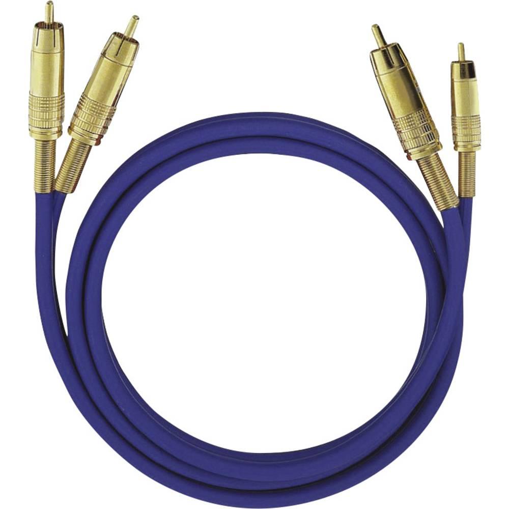 Cinch avdio priključni kabel [2x cinch vtič - 2x cinch vtič] 3 m modra pozlačeni kontakti Oehlbach NF 1 Master