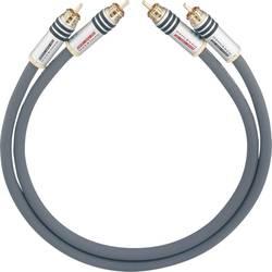 Cinch avdio priključni kabel [2x cinch vtič - 2x cinch vtič] 1 m antracitna pozlačeni kontakti Oehlbach NF 14 MASTER