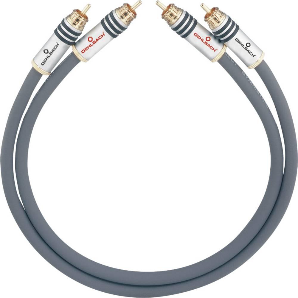 Cinch avdio priključni kabel [2x cinch vtič - 2x cinch vtič] 1.50 m antracitna pozlačeni kontakti Oehlbach NF 14 MASTER
