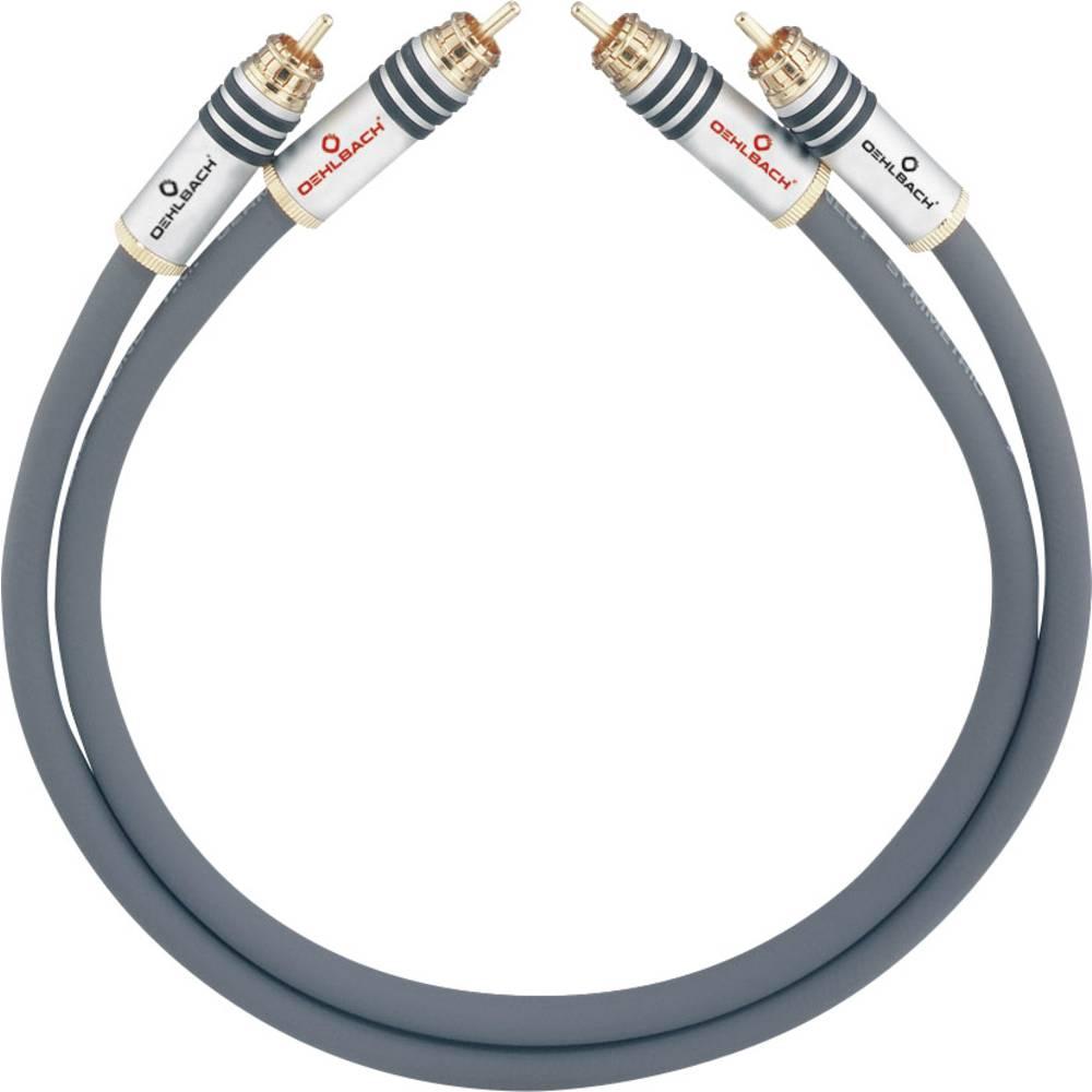 Cinch avdio priključni kabel [2x cinch vtič - 2x cinch vtič] 1.75 m antracitna pozlačeni kontakti Oehlbach NF 14 MASTER