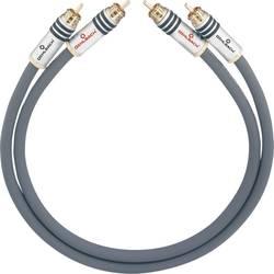 Cinch avdio priključni kabel [2x cinch vtič - 2x cinch vtič] 2 m antracitna pozlačeni kontakti Oehlbach NF 14 MASTER