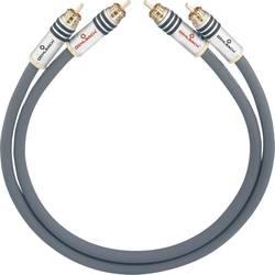 Cinch avdio priključni kabel [2x cinch vtič - 2x cinch vtič] 2.25 m antracitna pozlačeni kontakti Oehlbach NF 14 MASTER