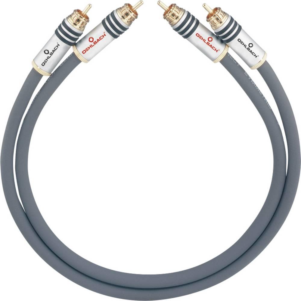 Cinch avdio priključni kabel [2x cinch vtič - 2x cinch vtič] 2.50 m antracitna pozlačeni kontakti Oehlbach NF 14 MASTER