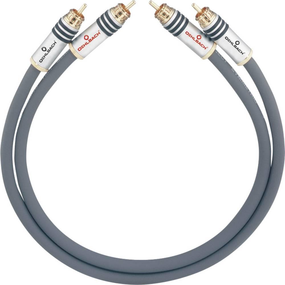 Cinch avdio priključni kabel [2x cinch vtič - 2x cinch vtič] 3.25 m antracitna pozlačeni kontakti Oehlbach NF 14 MASTER