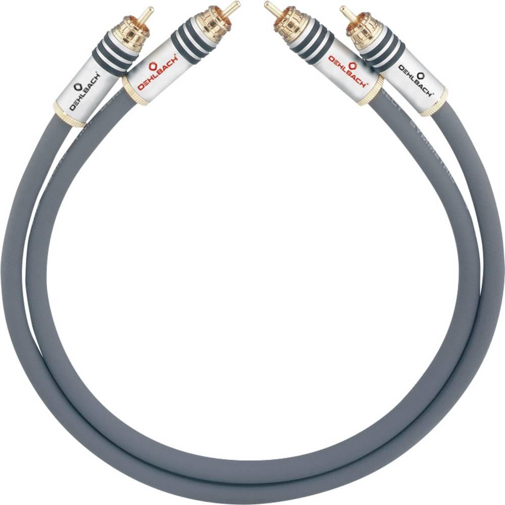 Cinch avdio priključni kabel [2x cinch vtič - 2x cinch vtič] 3.50 m antracitna pozlačeni kontakti Oehlbach NF 14 MASTER