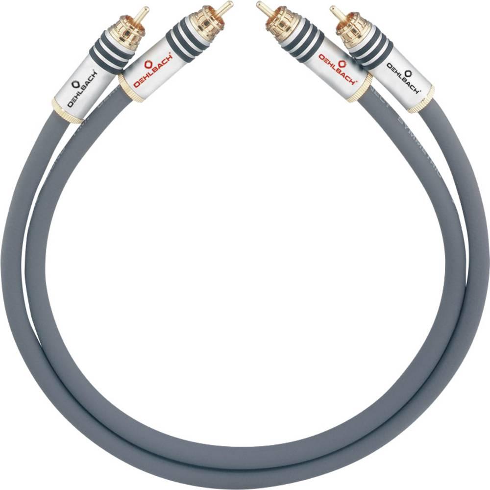 Cinch avdio priključni kabel [2x cinch vtič - 2x cinch vtič] 3.75 m antracitna pozlačeni kontakti Oehlbach NF 14 MASTER