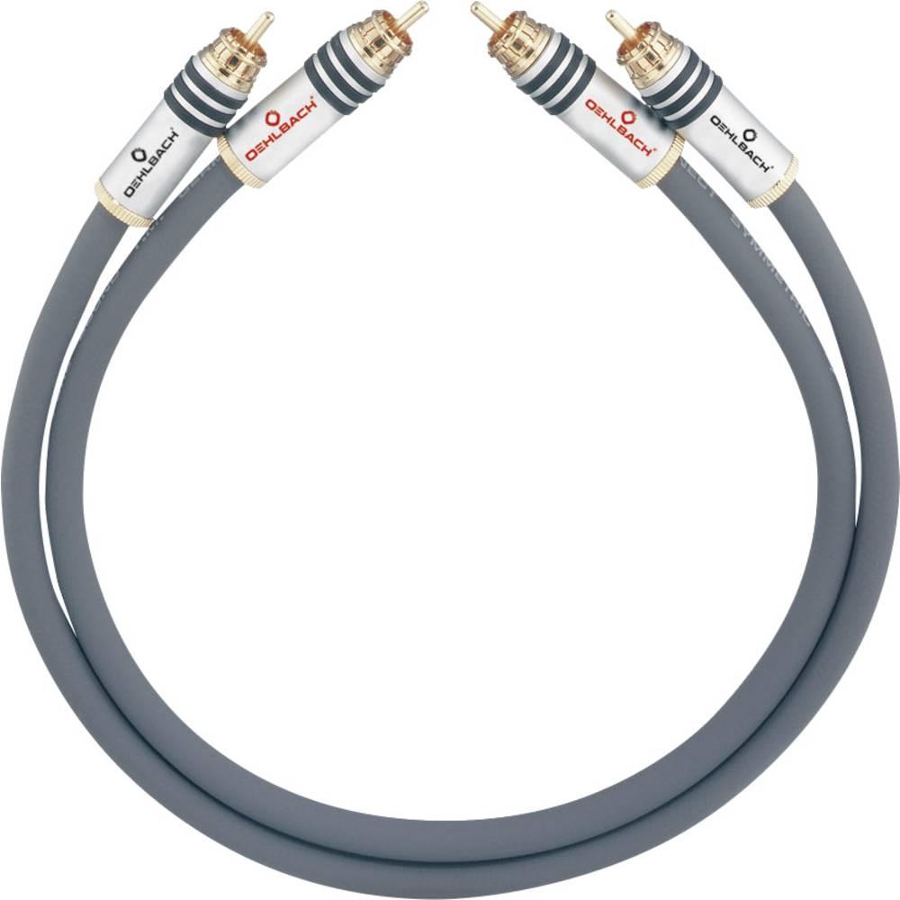 Cinch avdio priključni kabel [2x cinch vtič - 2x cinch vtič] 4.50 m antracitna pozlačeni kontakti Oehlbach NF 14 MASTER