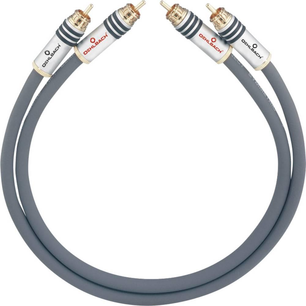 Cinch avdio priključni kabel [2x cinch vtič - 2x cinch vtič] 4.75 m antracitna pozlačeni kontakti Oehlbach NF 14 MASTER