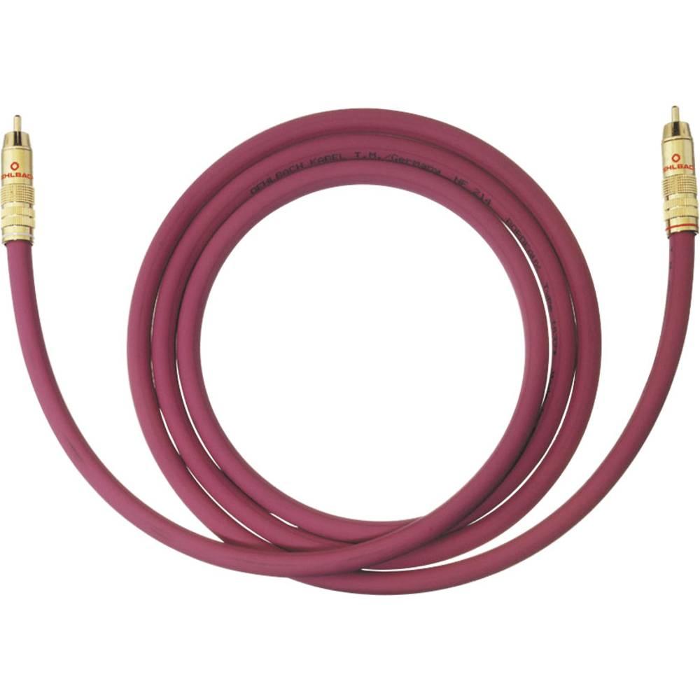 Cinch avdio priključni kabel [1x cinch vtič - 1x cinch vtič] 10 m bordo rdeča pozlačeni kontakti Oehlbach NF 214 SUB