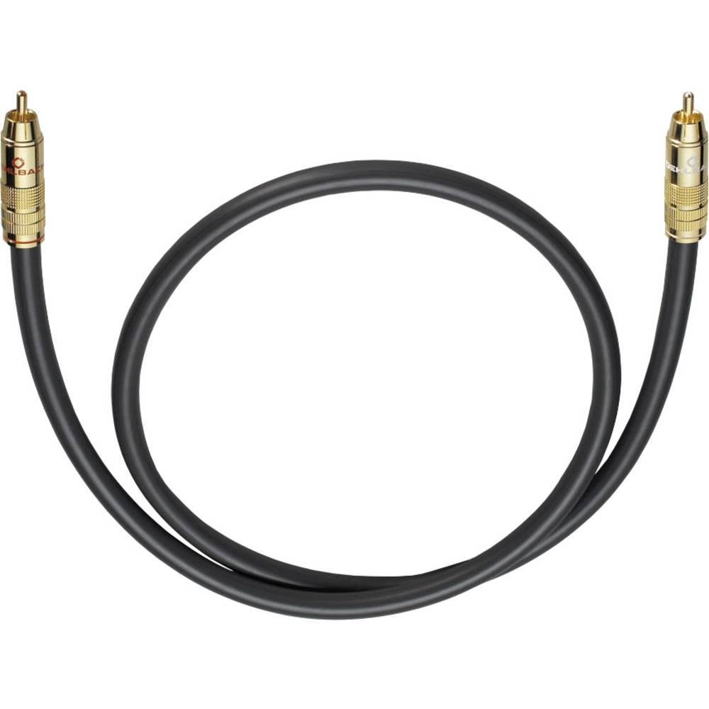 Cinch avdio priključni kabel [1x cinch vtič - 1x cinch vtič] 5 m antracitna pozlačeni kontakti Oehlbach NF 214 SUB