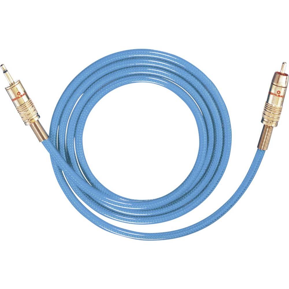 Cinch / Cinch avdio priključni kabel [1x cinch vtič - 1x Cinch vtič 3.5 mm] 3 m modra pozlačeni kontakti Oehlbach NF 113