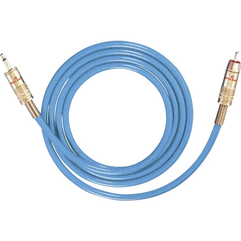 Cinch / Cinch avdio priključni kabel [1x cinch vtič - 1x Cinch vtič 3.5 mm] 5 m modra pozlačeni kontakti Oehlbach NF 113