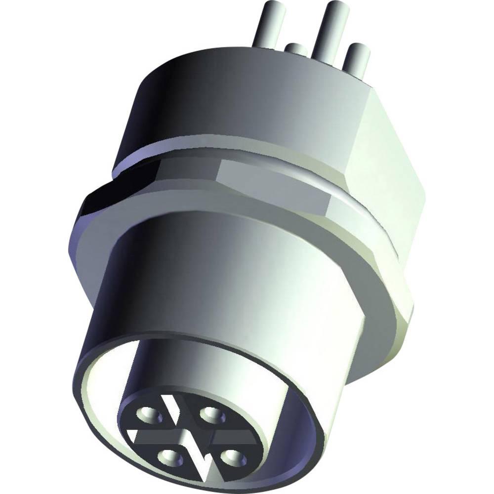 Aktuatorsko-senzorski vtični priključek M8, vgradna vtičnica 1-2120959-1 TE Connectivity vsebina: 1 kos