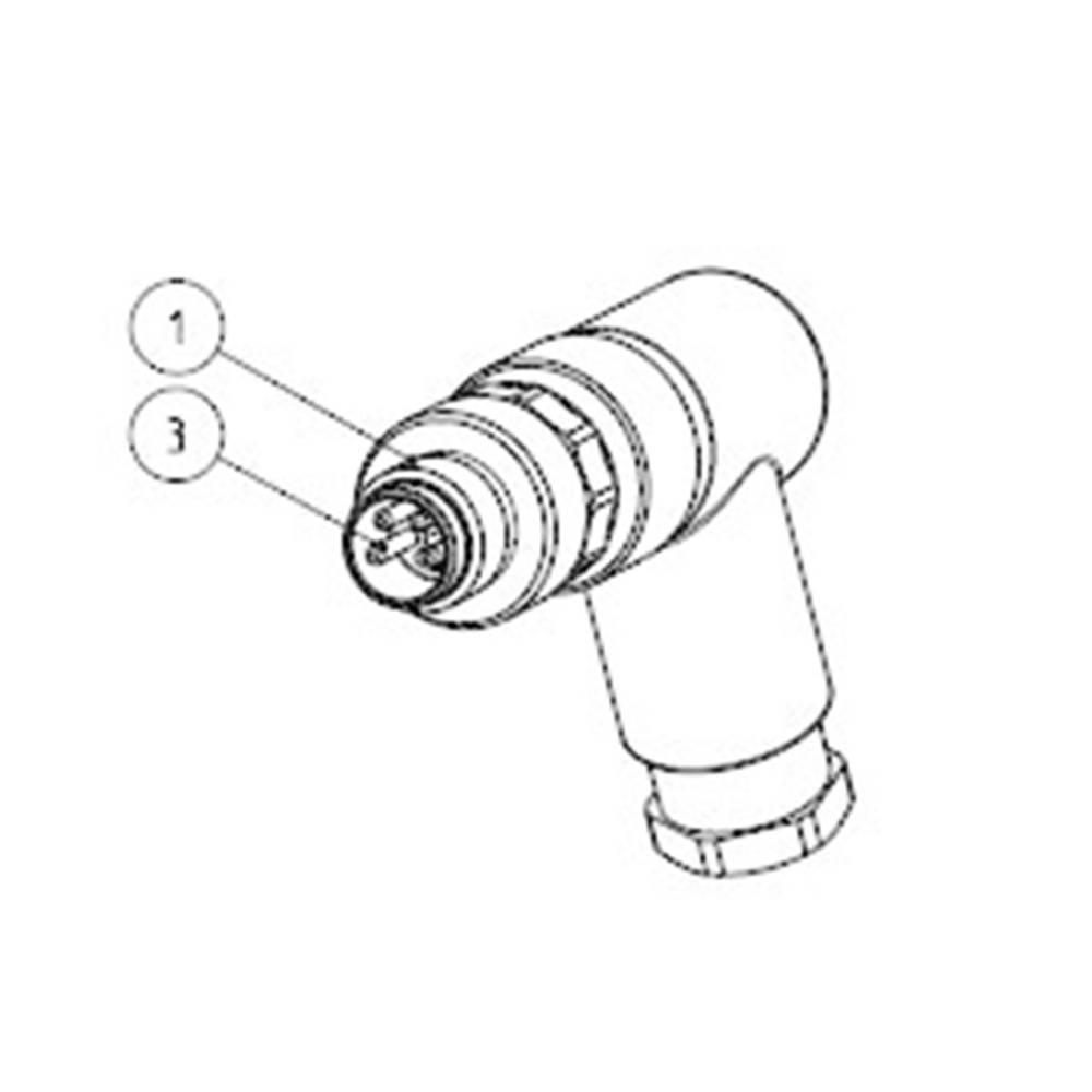 Aktuatorsko-senzorski vtični priključek M12, kotni vtič 6-2271123-2 TE Connectivity vsebina: 1 kos