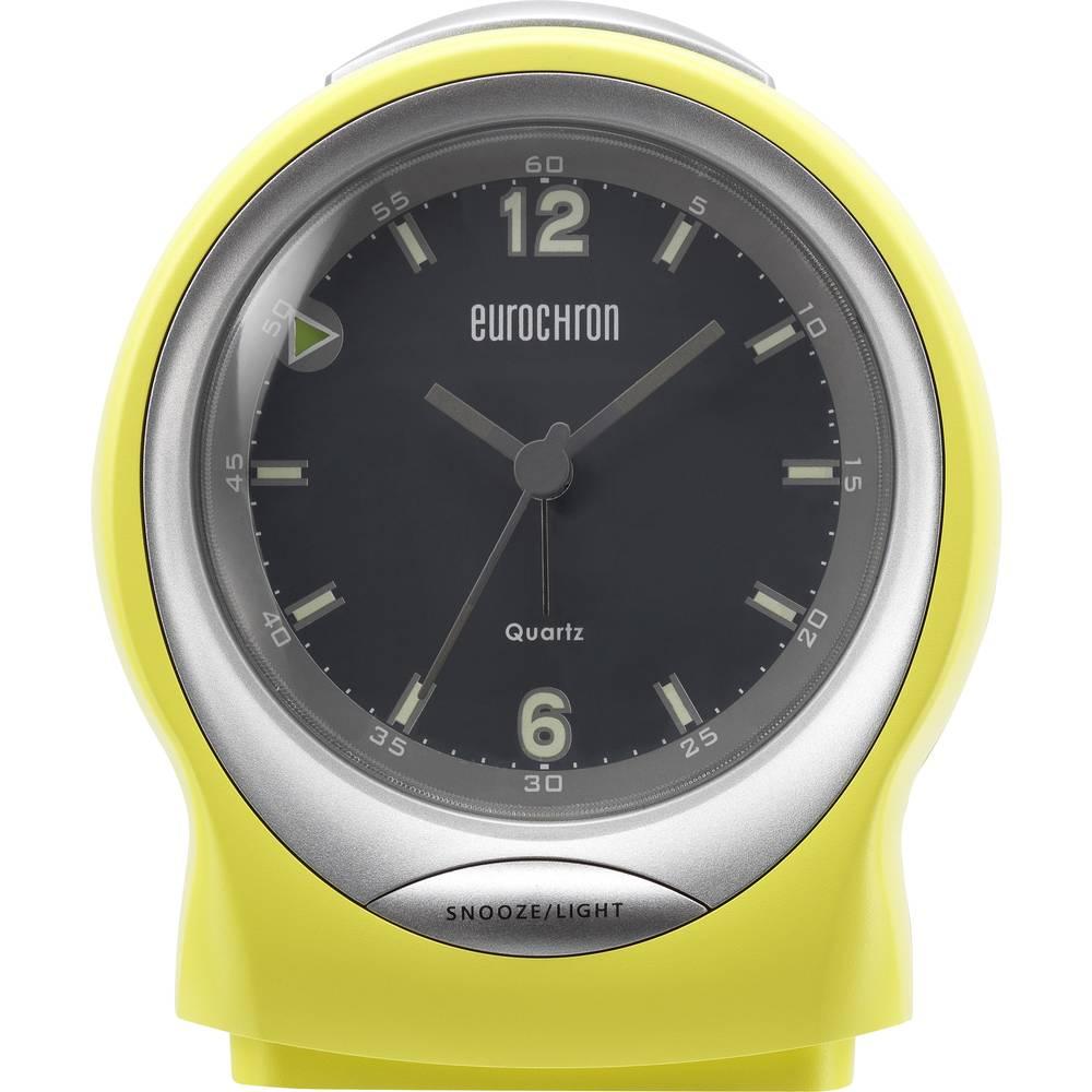 Kvarčna budilka Eurochron EQW 7500 rumena, št. alarmov 1