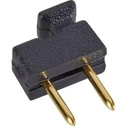 Kortslutningsbro Rastermål: 2.54 mm Poltal hver række:2 W & P Products 166-10-10-1 Indhold: 1 stk