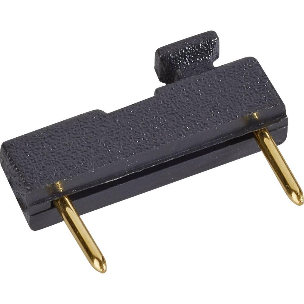 Kortslutningsbro Rastermål: 7.62 mm Poltal hver række:2 W & P Products 166-30-10-1 Indhold: 1 stk