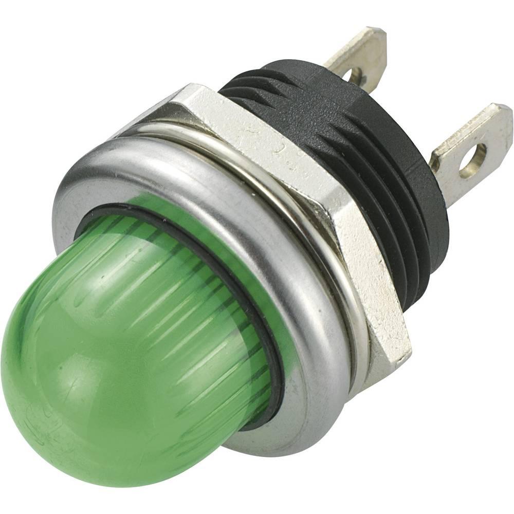 LED-signallampe SCI 140344 12 V/DC 20 mA Grøn