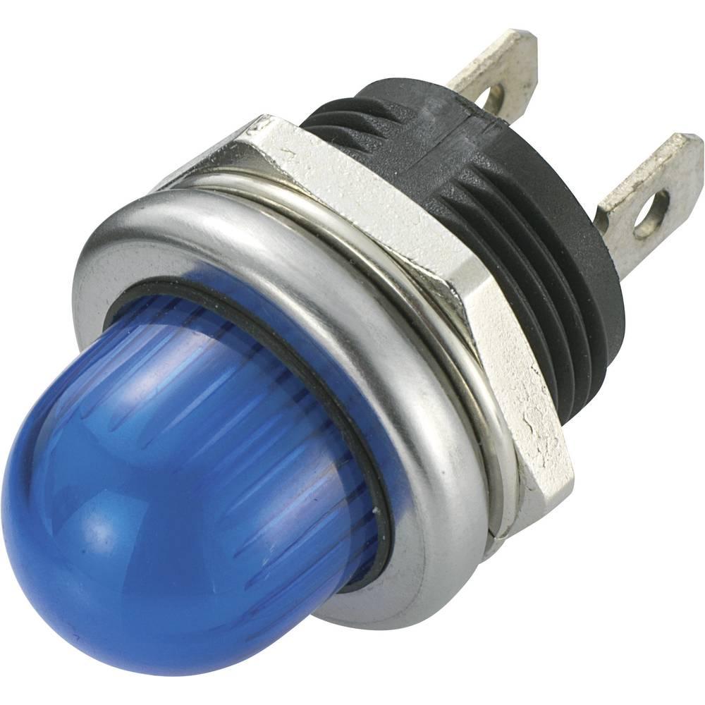 LED-Signalleuchte (value.1317401) SCI 140345 12 V/DC 20 mA Blå
