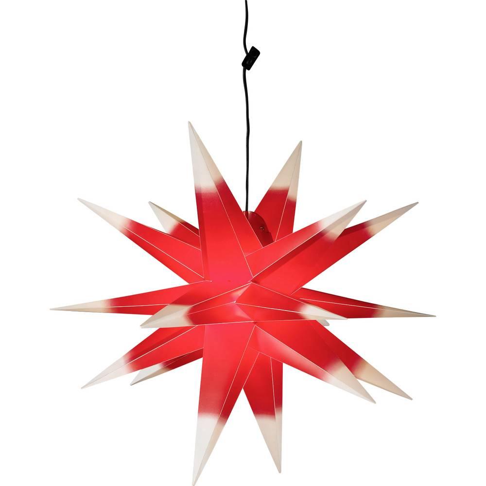 Okenska dekoracija, luč v obliki zvezde 7959 rdeča, bela