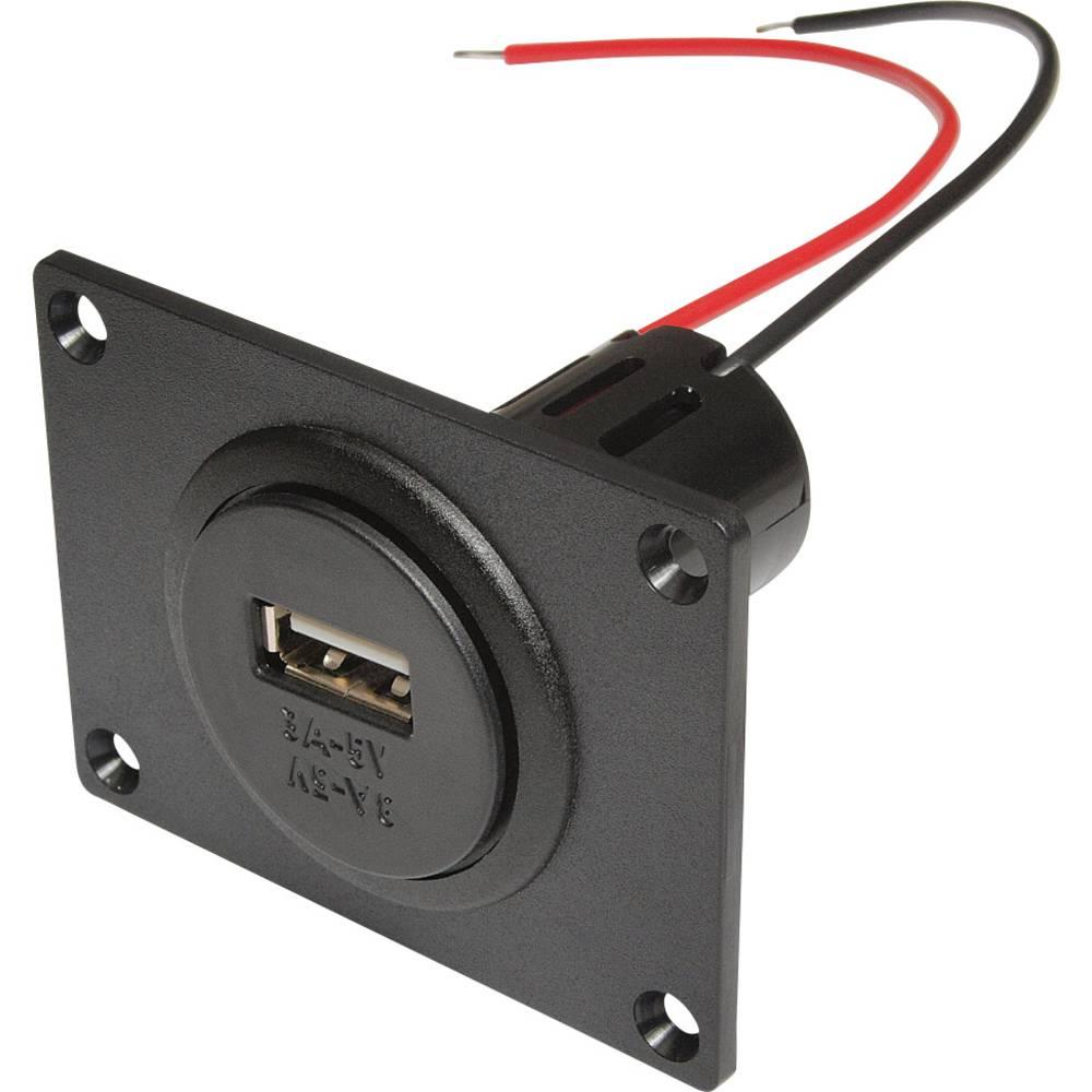 ProCar Power USB vgradna vtičnica z montažno ploščo največji tok maks.=3 A primeren za USB-A