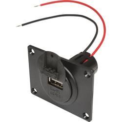 ProCar Power USB vgradna vtičnica z montažno ploščo in pokrovom največji tok maks.=3 A primeren za USB-A
