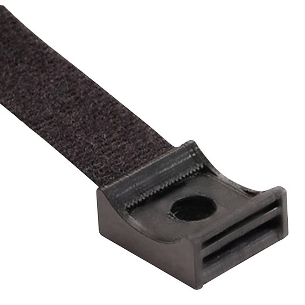 Trak z ježkom za privijanje, črne barve Hebotec 3011-010 1 kos