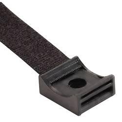 Čičak traka sa podnožjem za pričvršćivanje, crna Hebotec 3011-001 1 kom.