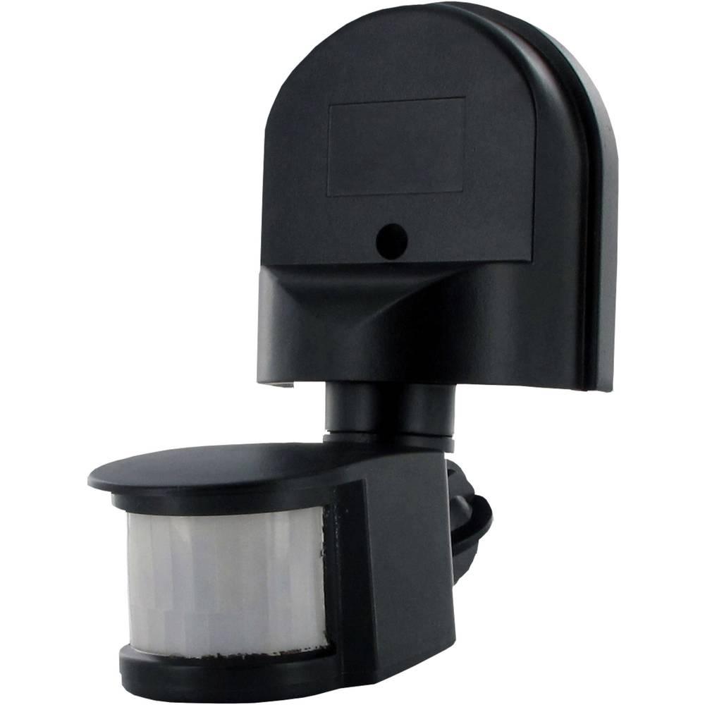 Stenski senzor gibanja Smartwares SW ES90 180 ° Triac črne barve IP44
