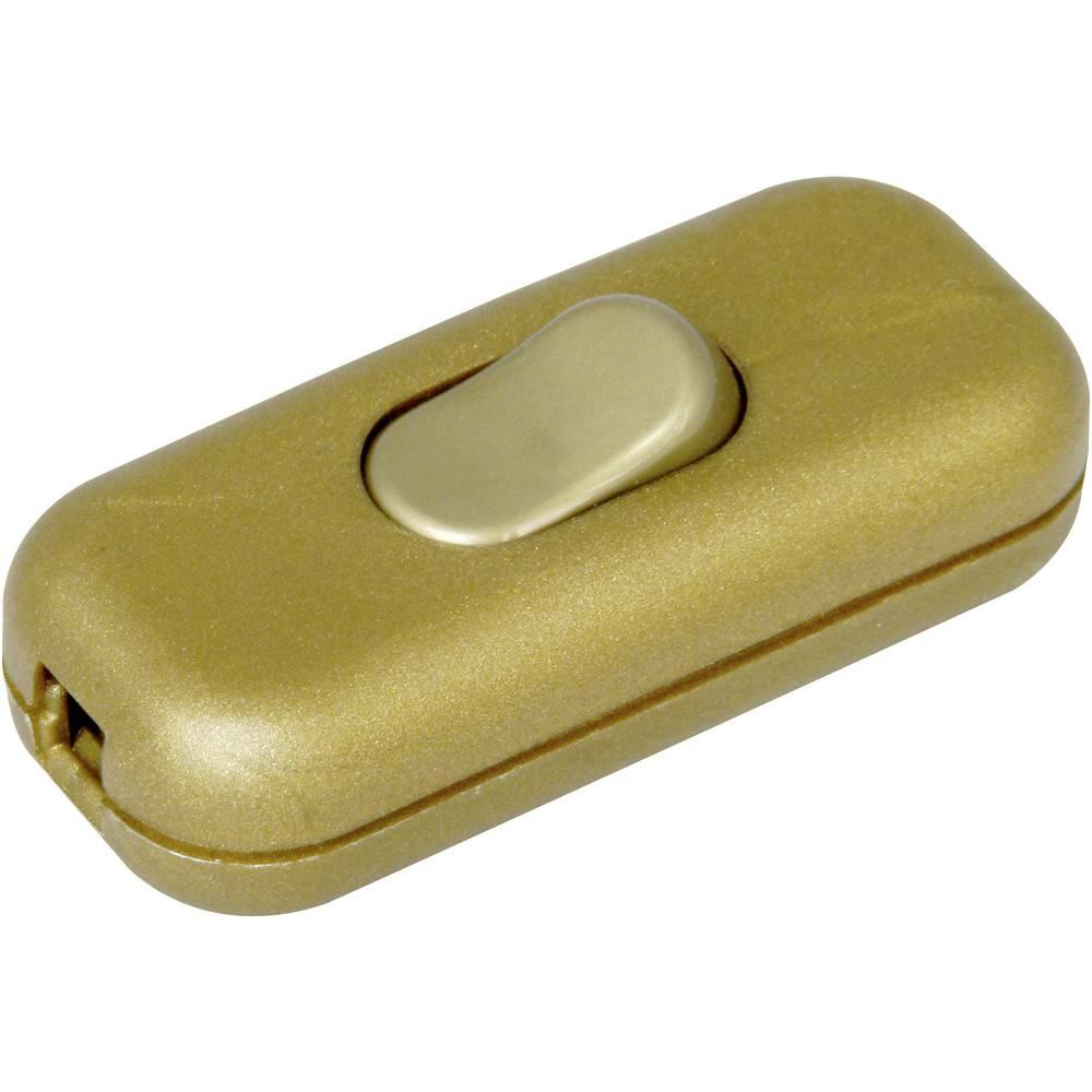 Kabelsko stikalo z zaščito pred potegom zlata 1 x off/on 2 A Kopp 191307003 1 kos