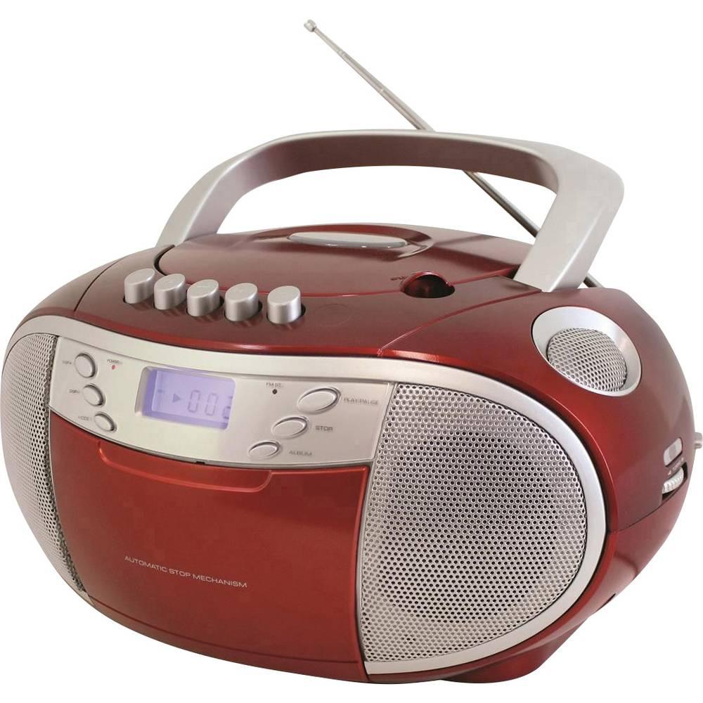 Soundmaster SCD6900 UKW/MW CD-predvajalnik, predvajalnik kaset, CD-radio, žepni radio, UKW, rdeče barve