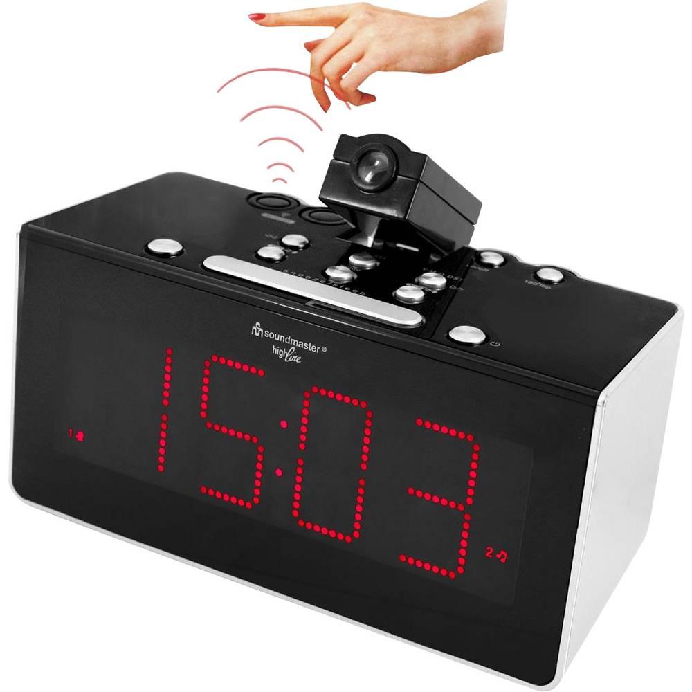 Soundmaster FUR6005 bežični radio sa satom, kuhinjski radio, džepni radio, UKW, crne boje