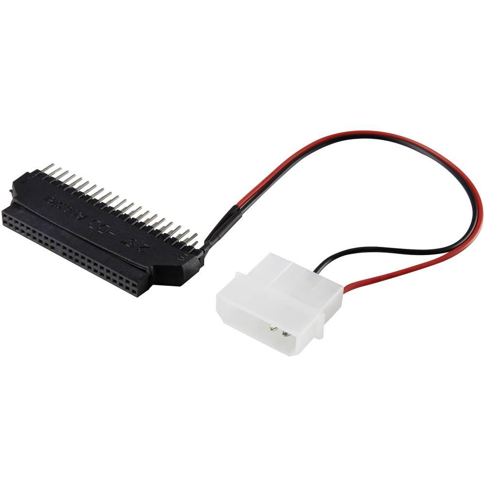 IDE pogon- Adapter [1x IDE-vtič 40pol., IDE-Strom-vtič 4pol. - 1x IDE-vtičnica 44pol.] 0 m črne barve Renkforce