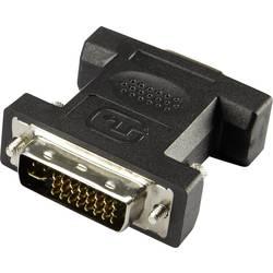 DVI / VGA Adapter [1x DVI-vtič 24+5pol. - 1x VGA-vtičnica] črne barve Renkforce