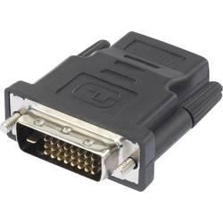 HDMI / DVI adapter [1x VDMI-vtičnica - 1x DVI-vtič 24+1 polni] črne barve renkforce
