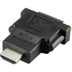HDMI / DVI adapter [1x VDMI-vtič - 1x DVI-vtičnica 24+1 polni] črne barve renkforce