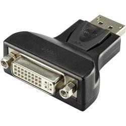 DisplayPort / DVI adapter [1x DisplayPort vtič - 1x DVI-vtičnica 24+5 polni] črne barve renkforce