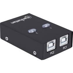 Preklopnik USB 2.0 2 vhoda Manhattan črne barve