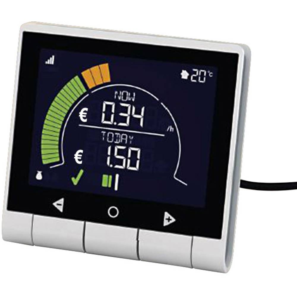 Merilnik porabe električne energije GEO Minim+ zaslon DE, AT, FR, NL, CH, DK, SE, FI, NO, CZ, SK, SI, HU, PL, EE, LT, LV, BG, RU